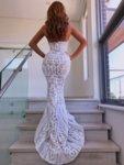Бяла пайетена рокля Клер